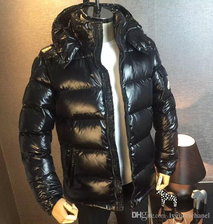 on sale 73b17 5966a Moda uomo di marca inverno caldo Maya reale bianco Anatra piumino Uomo  Casual esterno lucido opaco giù cappotto uomo tuta sportiva giacche parka