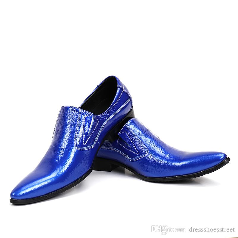 patent leather shoes for men slip on loafers sapato masculino social mens oxfords Classic formal italian shoes men