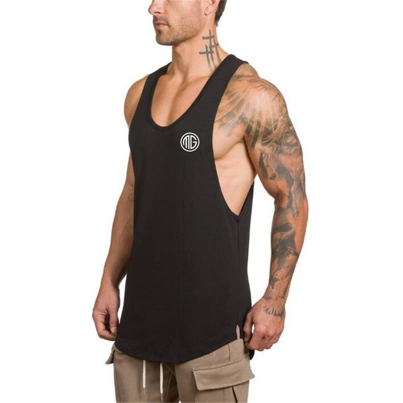 new product 7e2c4 7759d Muscle Guys Gyms Abbigliamento Fitness Uomo Canotta Uomo Bodybuilding  Stringers Canotte Allenamento Singlet Sporting Camicia smanicata