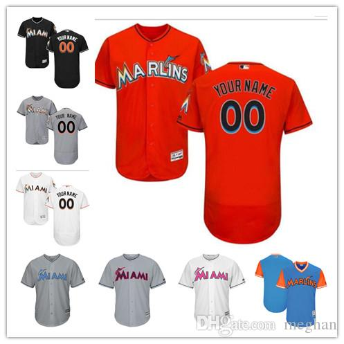 26dd18e45 Custom Men Women Youth Majestic Marlins Jersey  00 Any Your Name And ...