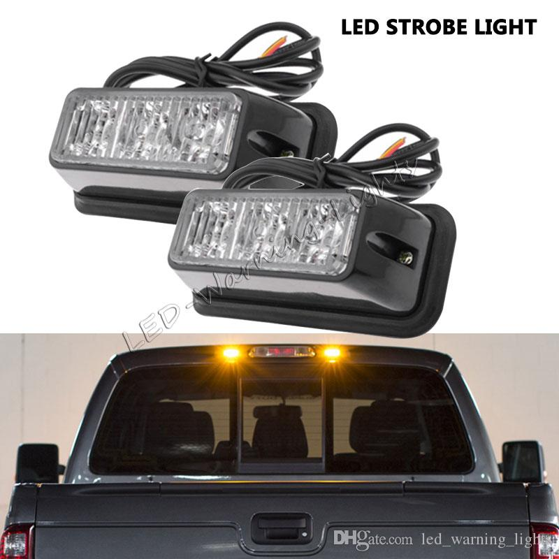 Led Strobe Lights For Trucks >> Free Shipping 4pcs 3 5inch 3w Led Strobe Emergency Light With 16 Flash Pattern Safety Beacon Light For Automotive Trucks Cars Vehicles