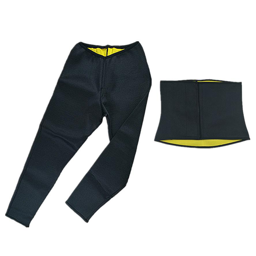 670bf8f589 2019 Hot Shapers Waist Trimmer Slimming Pants Men s Neoprene Hot Sweat  Weight Loss Fat Burning Waist Belt And Capri Pants Body Shaper From  Jst2015