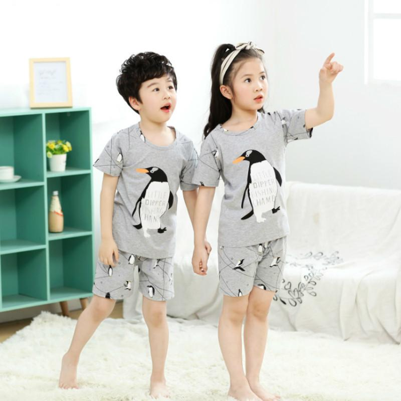 e85c2da05b Summer Kids Pajamas Sets For Boys Girls Cartoon Print Short Sleeve Shirts + Shorts  Children Cotton Sleepwear Home Wear Clothes Cool Pajamas For Boys Cute ...