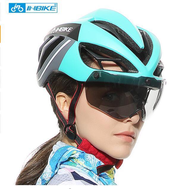 7aaab58dba Compre INBIKE Casco Ciclismo Casco Bicicleta Gafas Magnéticas Mountain Road  Bike Helmets Gafas De Sol Cycling Glasses 3 Lens Bike A $41.38 Del Suipao  ...