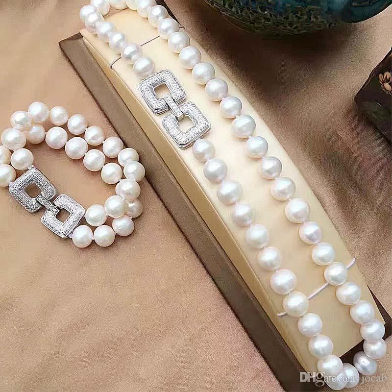 Wholesale Handmade DIY Jewelry Accessories Supplies Luxury Zirconia Copper Rows Pearl Bracelets Necklaces Clasps Spacers Connectors Findings