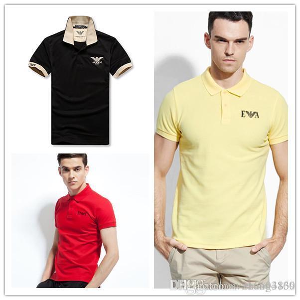 61a1fd48bd Compre Aj 2018 Famosa Marca Clássico Camiseta Homens Malha Pique De Algodão  Camisa Polo Masculina Casual Negócios Polos Originais Homens Camisas Polo  Mani ...