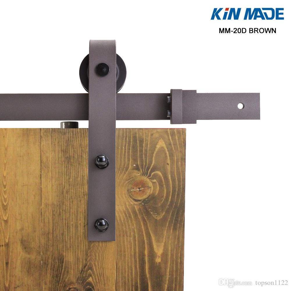 2018 Mm20d Brown Sliding Barn Door Hardware Kits From Topson1122, $116.59 |  Dhgate.Com