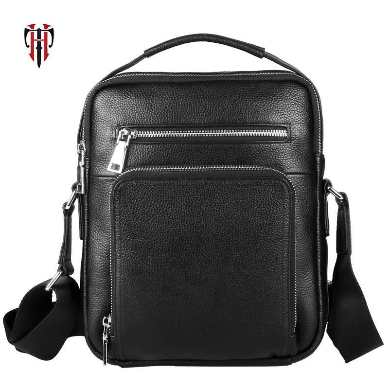 df2e119b34 Acquista TIANHOO Business Style Messenger Bag Uomo In Pelle Da Uomo Borsa A  Spalla In Pelle Genuino Notebook Mano Lavorando A $146.37 Dal Flaky |  DHgate.Com