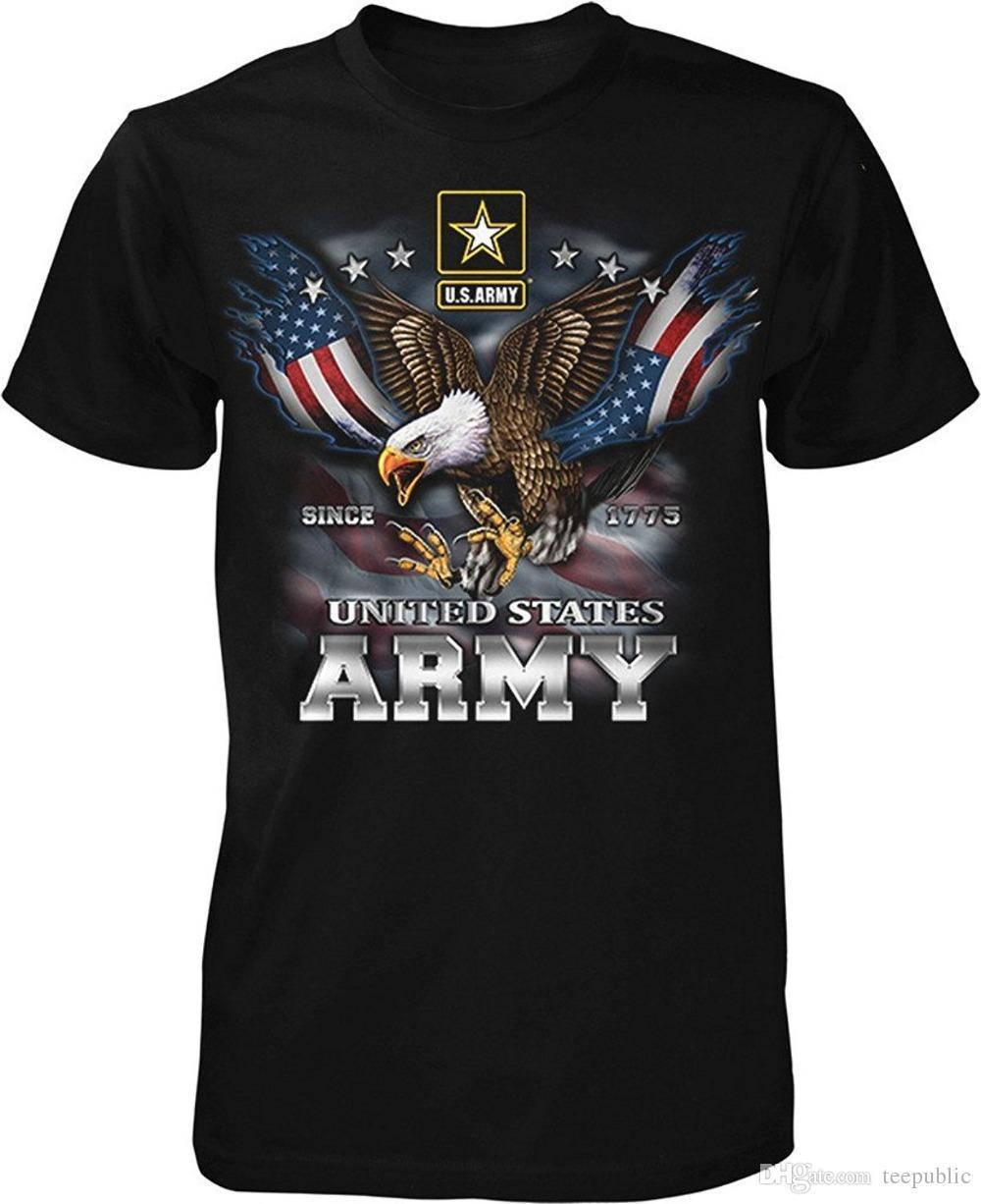 ef0a5c246 T Shirt Printing Company US Army Since 1775 Eagle with American Flag Wings  Men's T-shirt Men's Crew Neck Short-Sleeve Summer