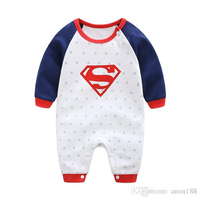 7a419186d 2018 New Fashion Cartoon Cotton Kids Boy Clothes Jumpsuit Batman Baby Boy  Romper Superman Baby Gilr Romper Baby Costume Clothing