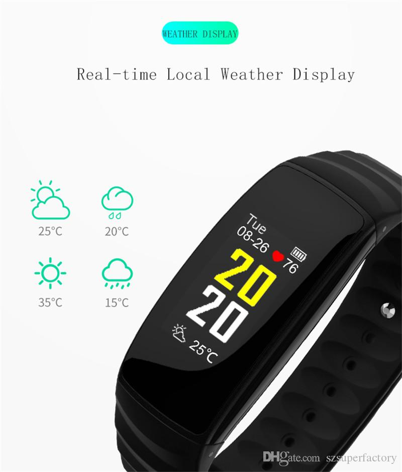 H107 Smart Bracelet Most Accurate Heart Rate Monitor Fitness Clock Colorful  Touch Screen Smart Wristband Band PK fitbits