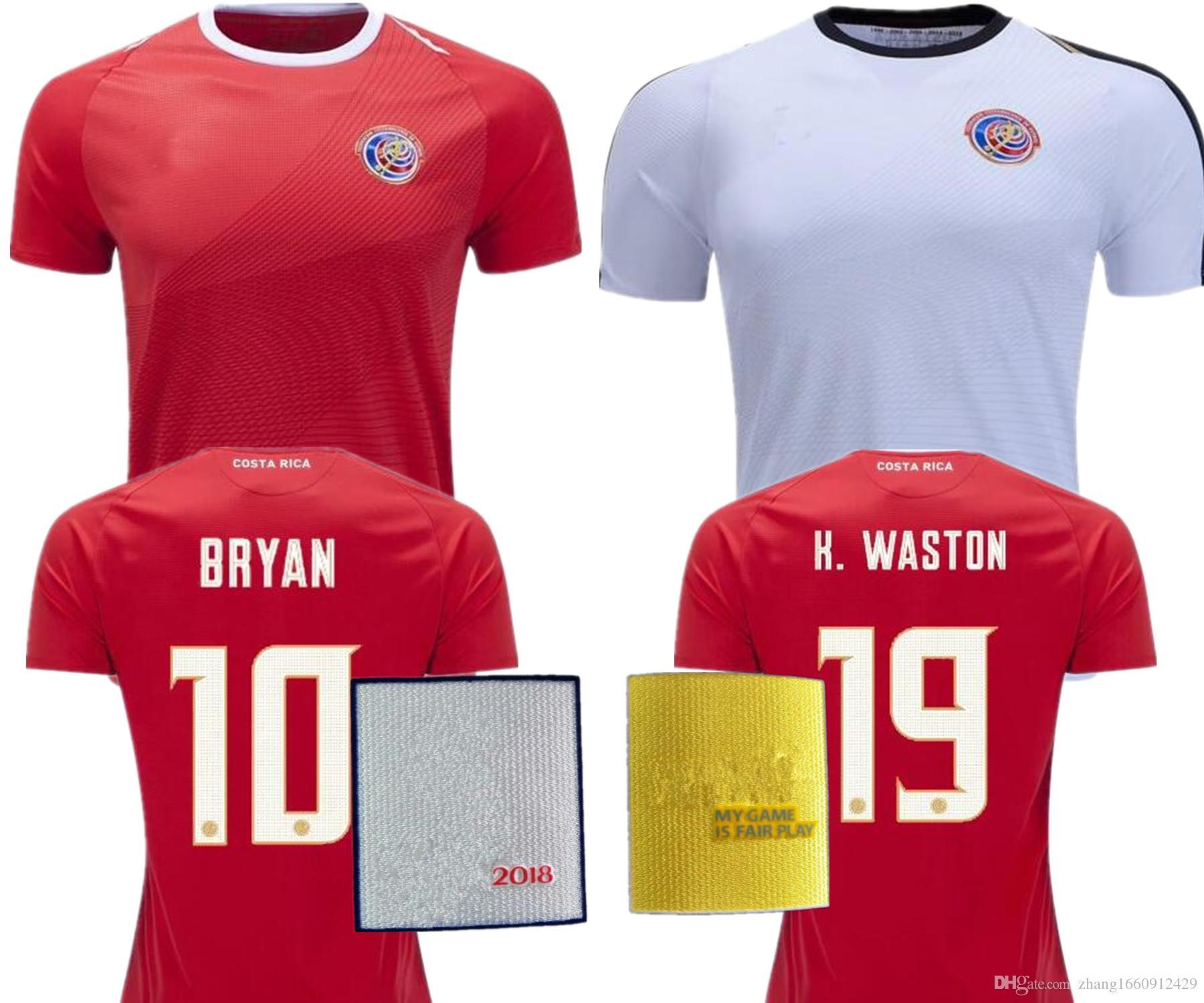 39e6cce81 2019 2018 Costa Rica Soccer Jersey 18 19 Costa Rica Home Away White Camisa  De Futebol JOEL CAMPBELL 2018 Football Shirt World Cup Maillot From ...