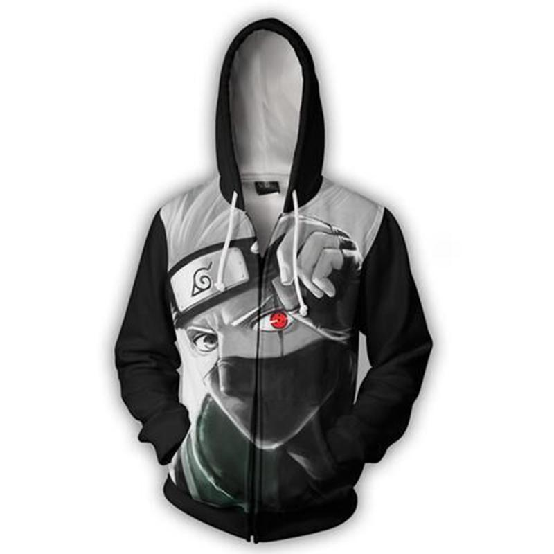 2019 2018 Naruto 3d Anime Hoodie Kakashi Hatake Cartoon Sweatshirt Men  Women Long Sleeve Thin Outerwear Casual Pullovers Jacket From Bestdh2014 637cbe7c7