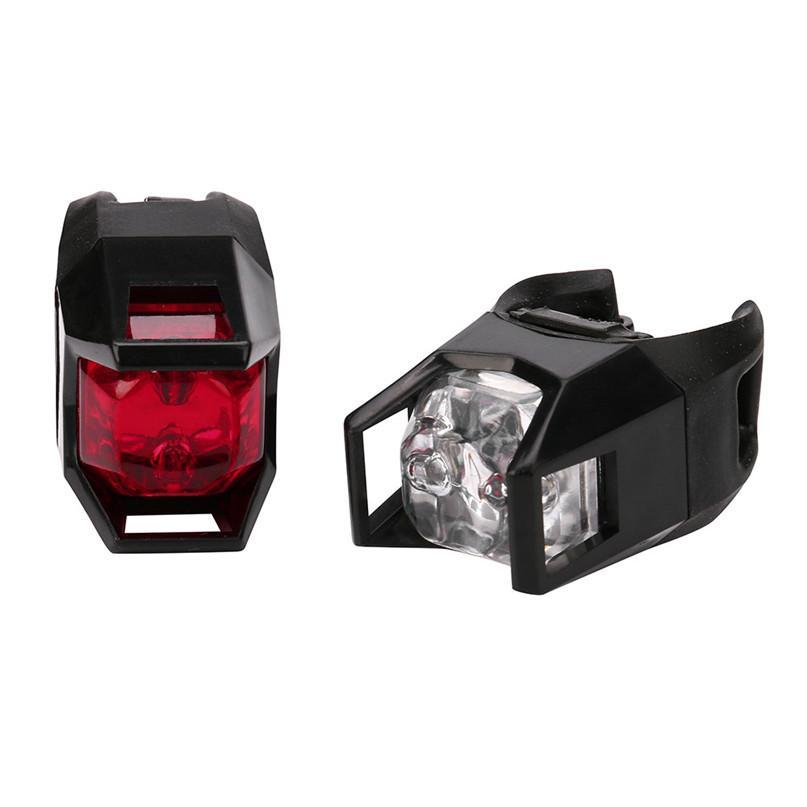 Set Lumières Lampe Feu2m17 Arrière Rouge Led Blanc Rechargeable Et Batterie Vtt Vélo Lumière 2pcs TJc1lK35uF