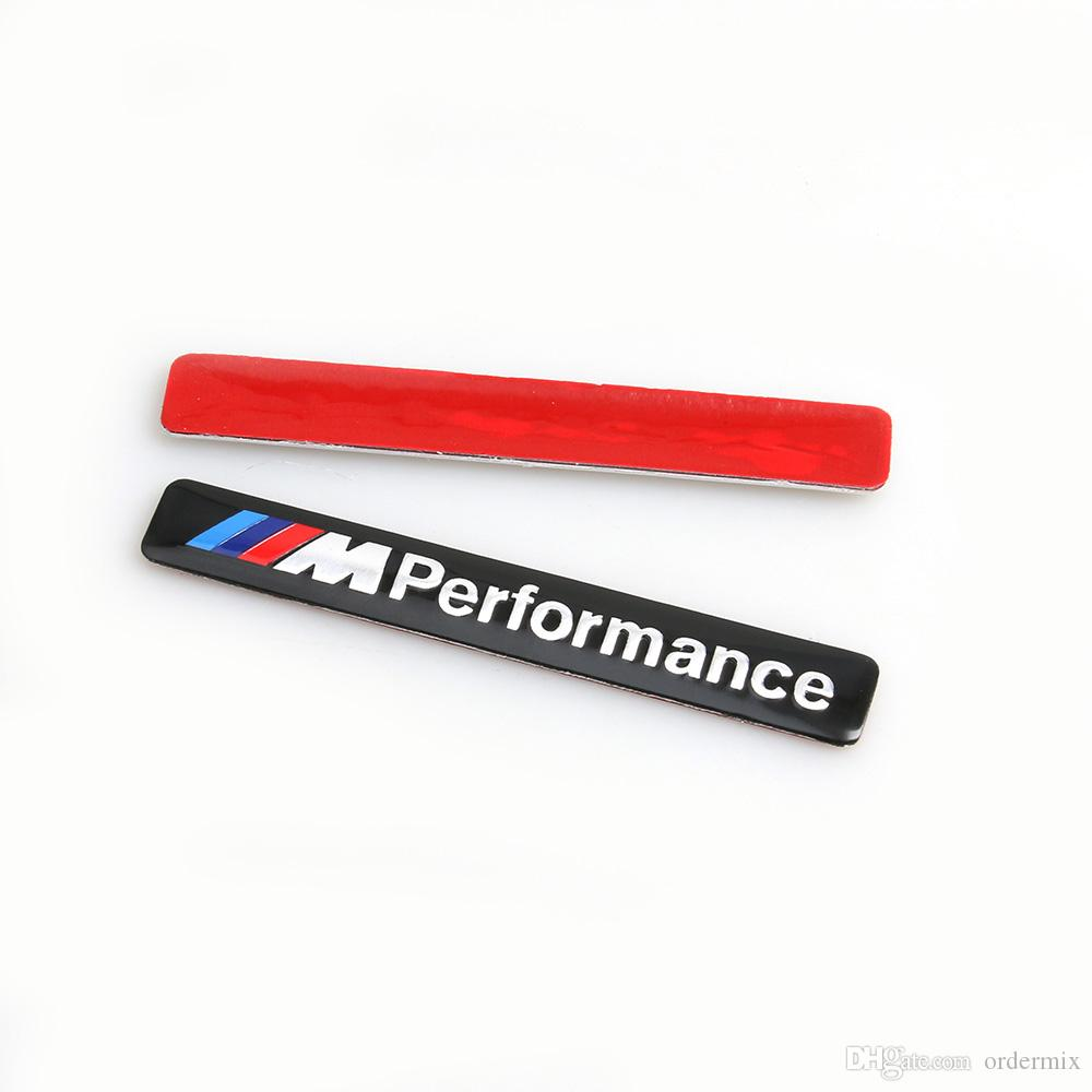M الأداء motorsport المعادن شعار سيارة ملصقا الألومنيوم شعار شارة شارة ل بي ام دبليو E34 E36 E39 E53 E60 E90 F10 F30 M3 M5 M6