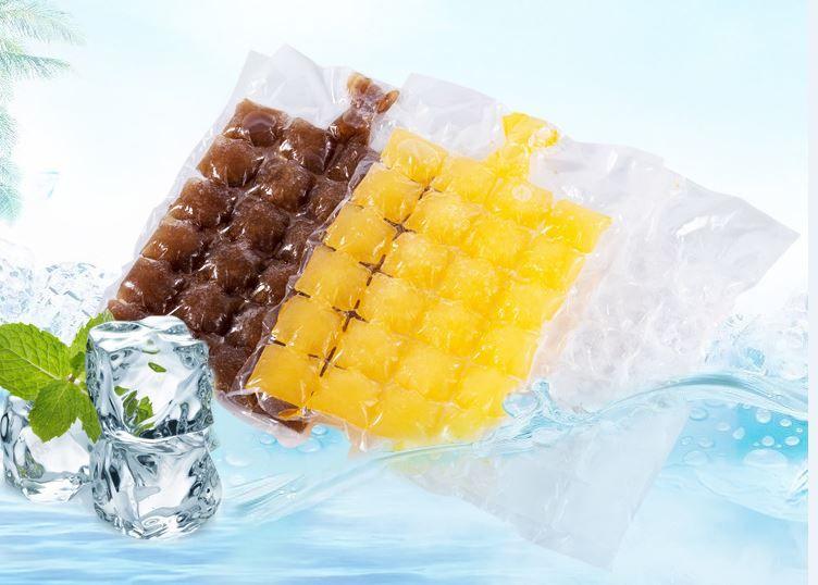 Creative Portable Self Sealing Household Ice Maker Bag Disposable Beverage Juice Frozen Ice Block Bag /2400 Ice Mold