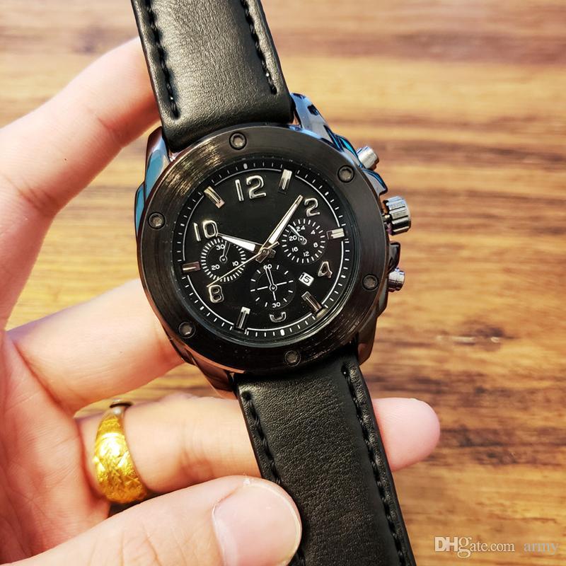 94a1d697890 Compre Mens Relógios Top Marca De Luxo Relógio Mecânico De Negócios De Aço  De Couro Dos Homens De Negócios À Prova D  Água Esporte Relógios Relogio ...