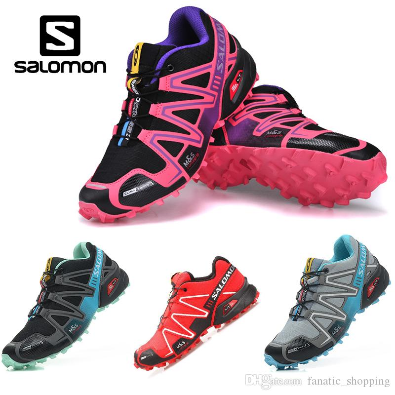 3b167992b8d Salomon Speedcross 3 CS Trail Running Shoes Women Black Pink Speed Cross  III Lightweight Waterproof Outdoor Sports Sneakers
