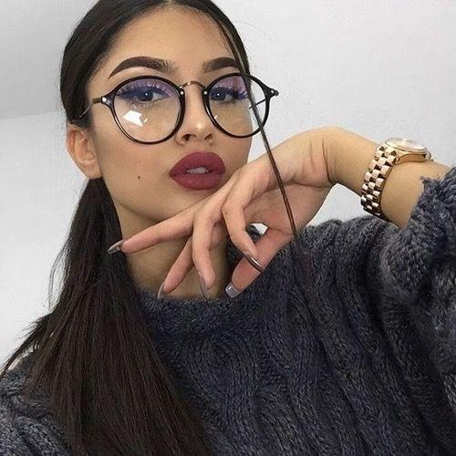1049f8ebc6530 2019 Temples For Glasses Round Glasses Eyeglasses Women Transparent Frame  2017 Retro Speactacles Optical Frames Clear Lens From Cupwater
