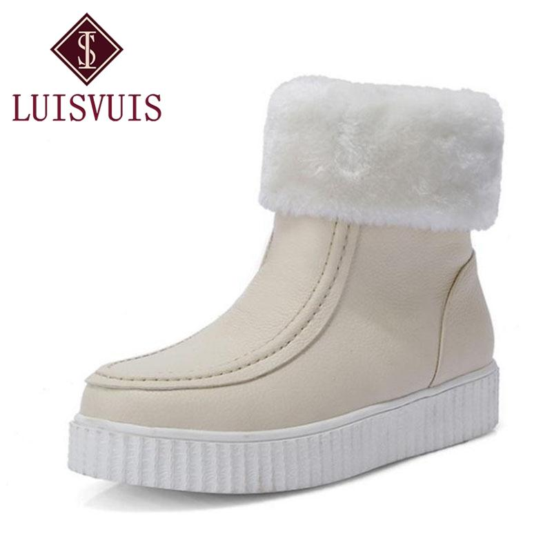 5d6cc112b8 RIZABINA Women Winter Snow Boots Plush Platform Shoes Women Round Toe  Wedges Ankle Boots Thick Fur Heels Footwear Size 33 43 Walking Boots Ankle  Boot From ...