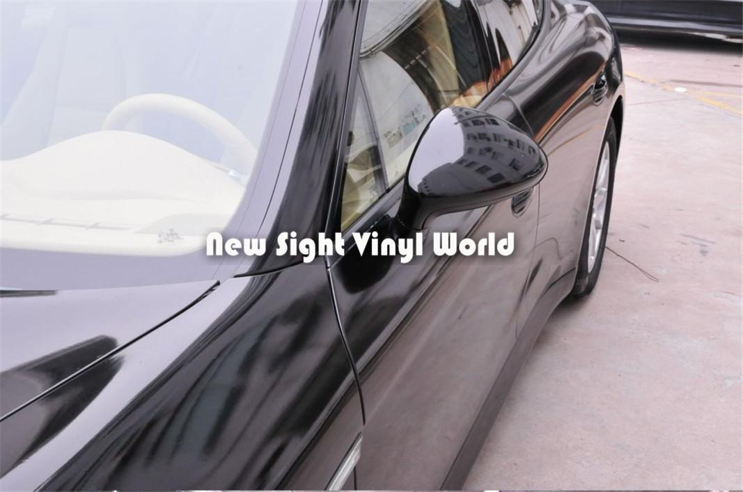 Piyano Parlak Siyah Vinil Wrap Parlak Parlak Araba Wrap Film Hava Kabarcığı Ücretsiz Araç Wrap Kapsayan Folyo