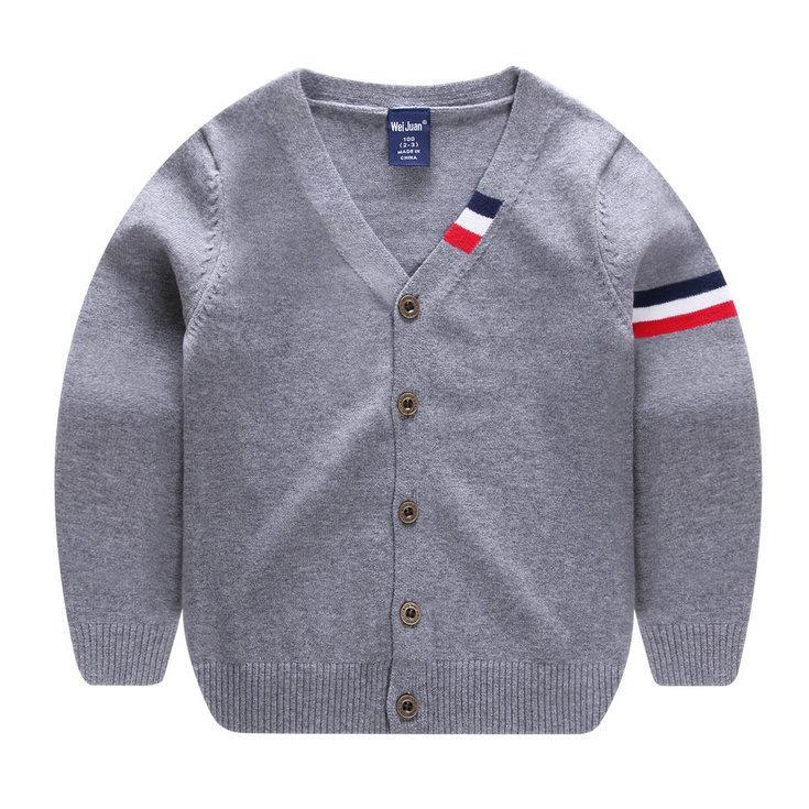 2229134686d5 Spring Kids Boys Sweaters Cardigan Long Sleeve Children Knitwear ...