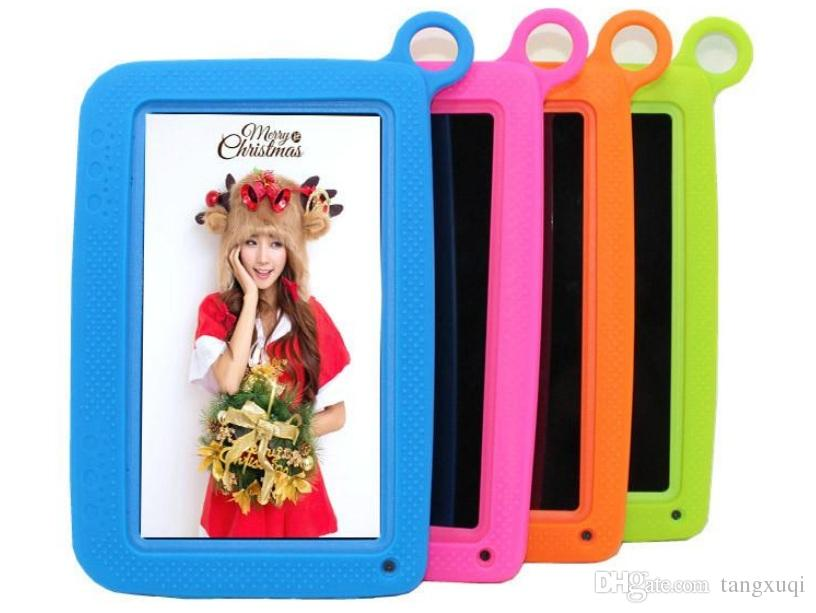 "Kids Brand Tablet PC 7"" Quad Core children tablet Android 4.4 Allwinner A33 8GB google player wifi + big speaker + protective cover dhlfree"