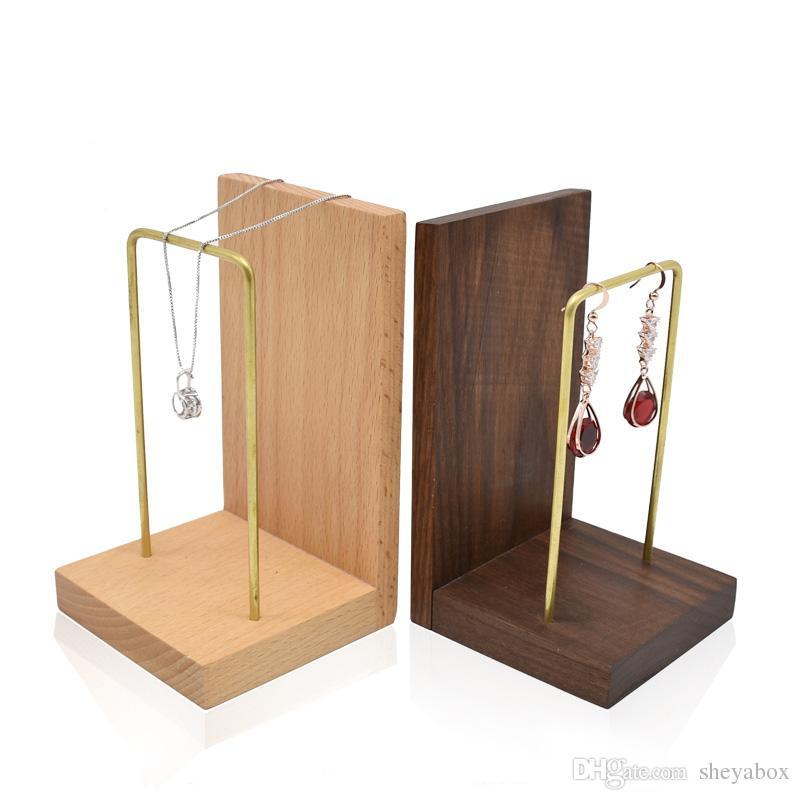 Espositore gioielli in legno massello Espositore posate Gioielli gioielli Orecchini orologi Espositore vetrine Espositore fiere