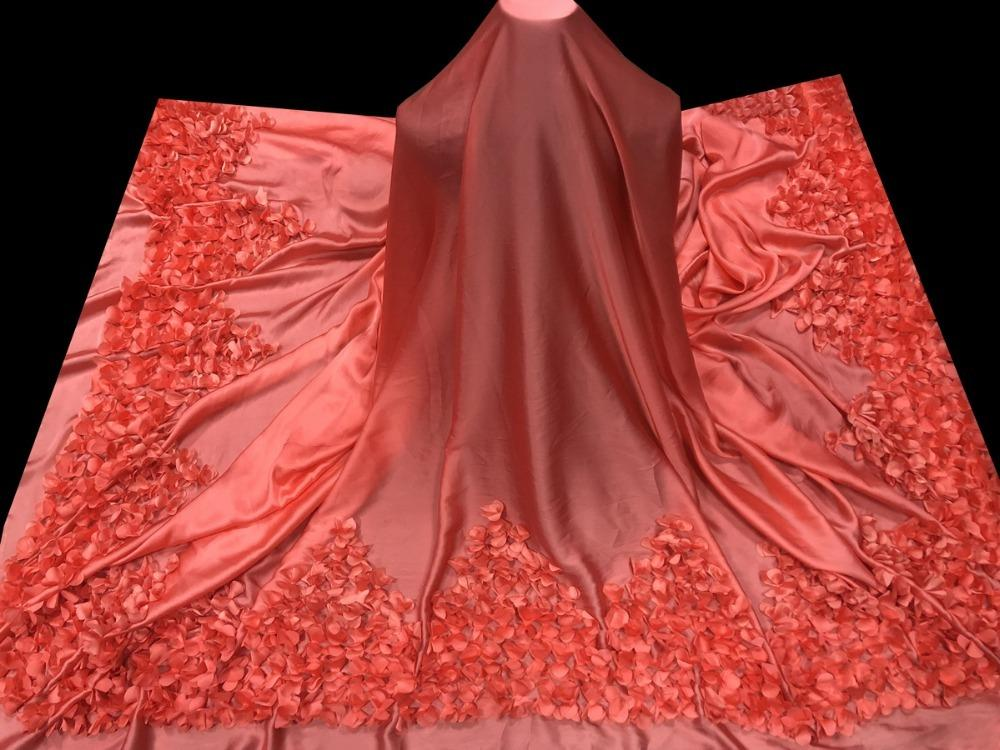 Acquista tessuti nigeriani del merletto nozze tessuto