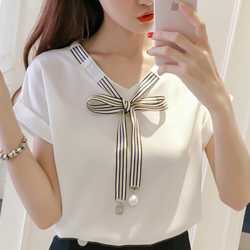 72b3c46627885 Compre 2018 Blusa De La Camisa De Las Mujeres De Estilo Coreano Ropa De  Moda Ropa De Verano Para Mujeres Tops Y Blusas Ropa Femenina Con Estilo  Señoras ...