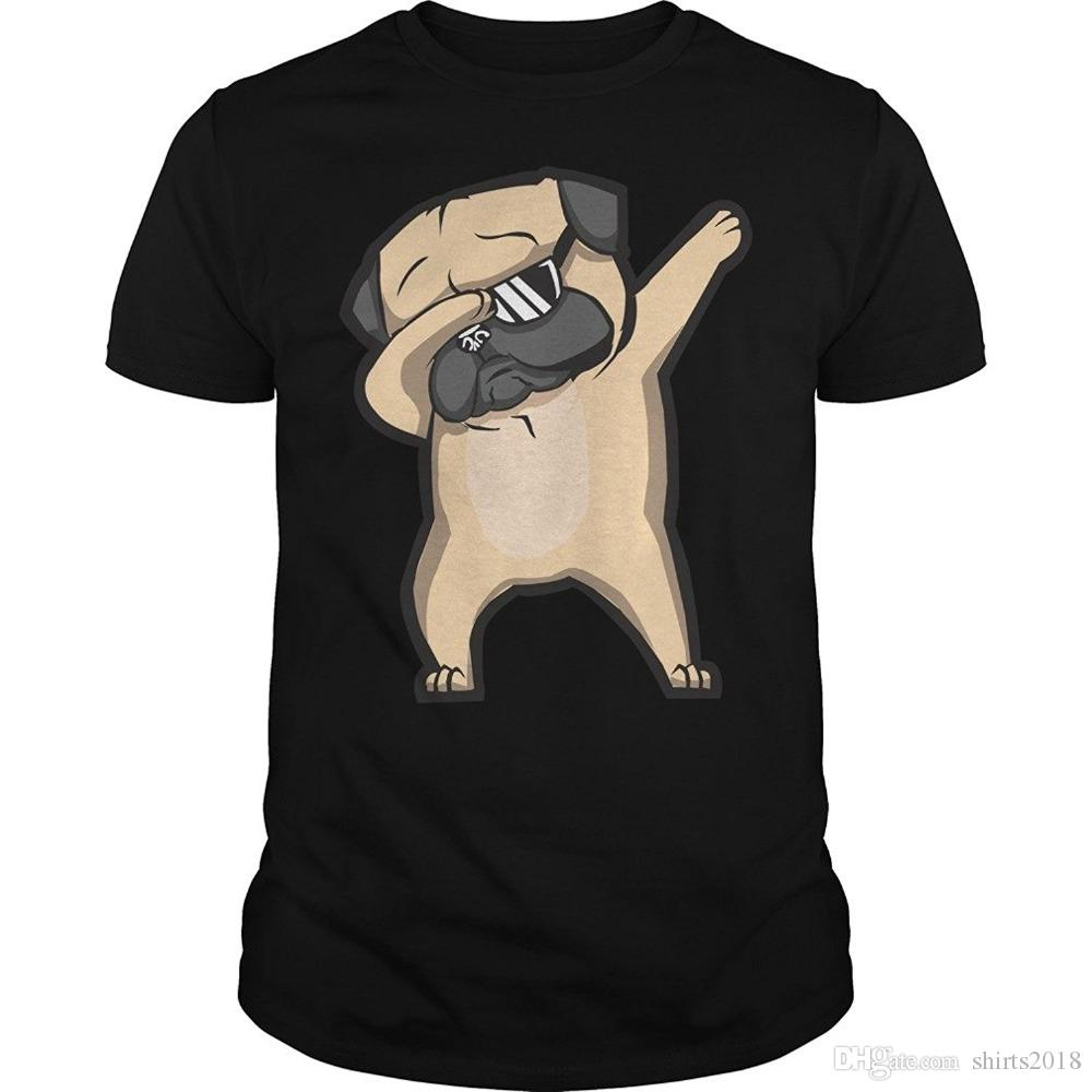 b95478bc Dabbing Pug Cute Funny Dog Dab T Shirt Unisex Pug Lover Dog Lover Shirts  Gifts 100% Cotton Geek Family Top Tee T Shirts Deals Super Cool T Shirts  From ...
