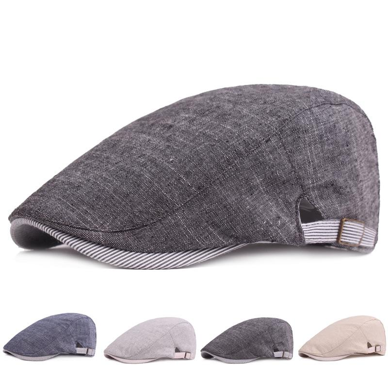 6bceda6e377 2019 Cotton Newsboy Cap Hat Mens Ivy Cap Men S Retro Beret Forward Hats  Simple Male Casual Sunhat Adjustable For Man From Gslyy0712