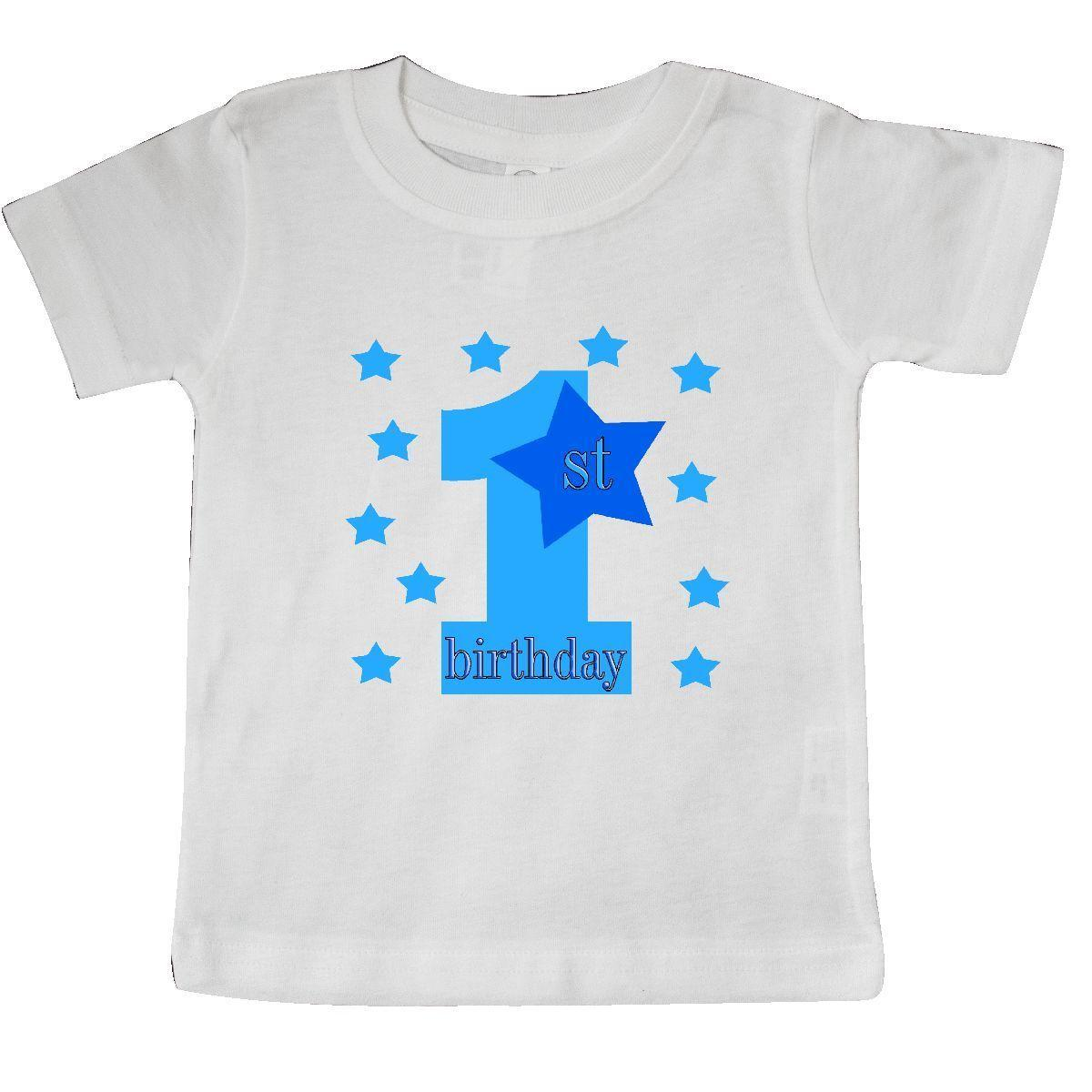 Inktastic 1st Birthday Boy Stars Baby T Shirt Blue Party One Celebrate Funny Unisex Casual Tee Gift Ladies Shirts Design From Spirit