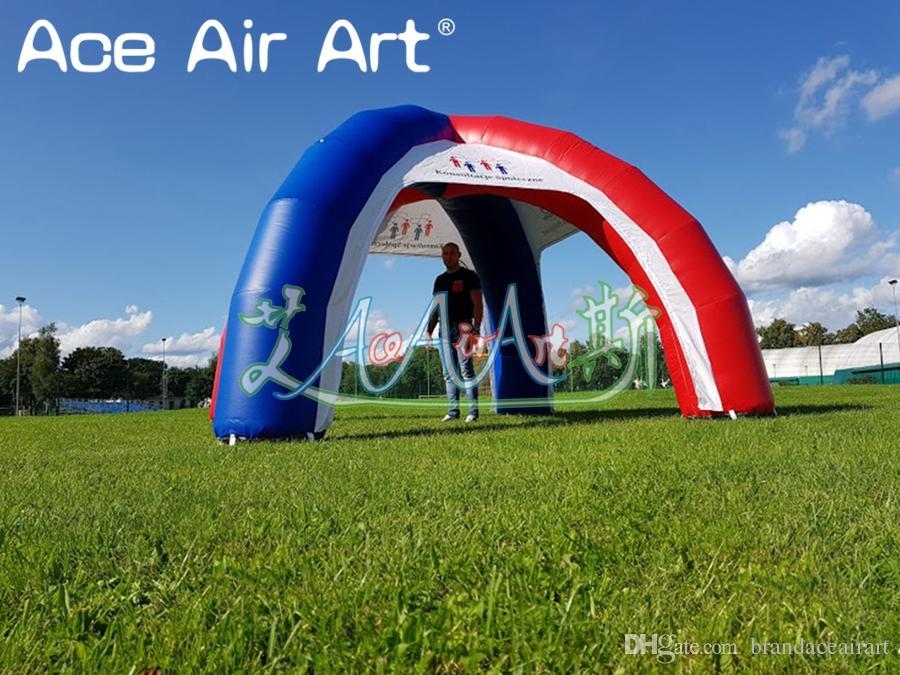 La tente gonflable bleue et rouge royale d'araignée, tente gonflable de couverture de voiture pour la publicité et la promotion viennent avec le ventilateur d'air