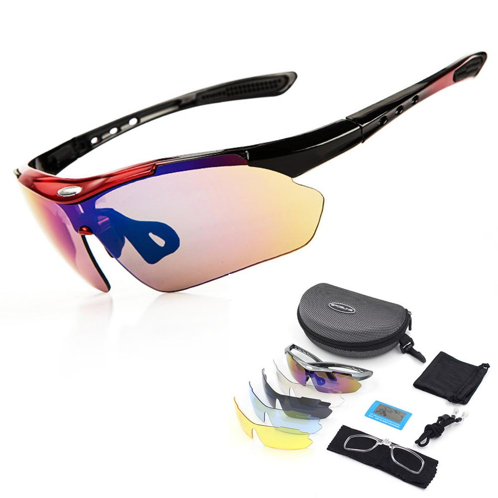 7aefa050c426 2019 5 Lens Set VU400 Polarized Cycling Sunglasses Hiking Fishing Driving Outdoor  Sports Sun Glasses Bicycle Goggles Safety Eyewear From Sunnystars