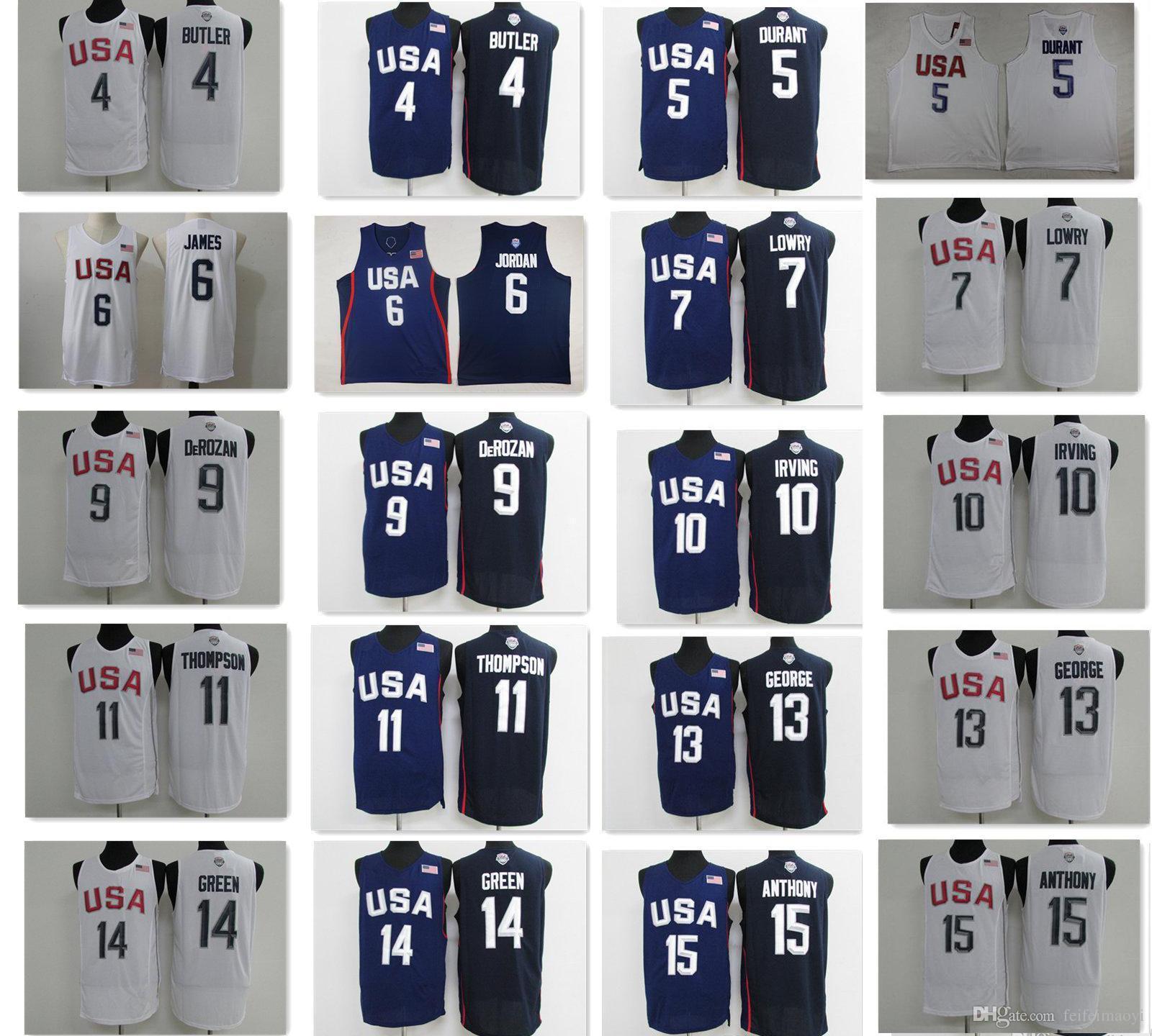362150a90 ... revolution 30 swingman basketball jersey b2bca 76c69  promo code for  2018 2016 dream team twelve 7 kyle lowry 5 kevin durant usa jersey