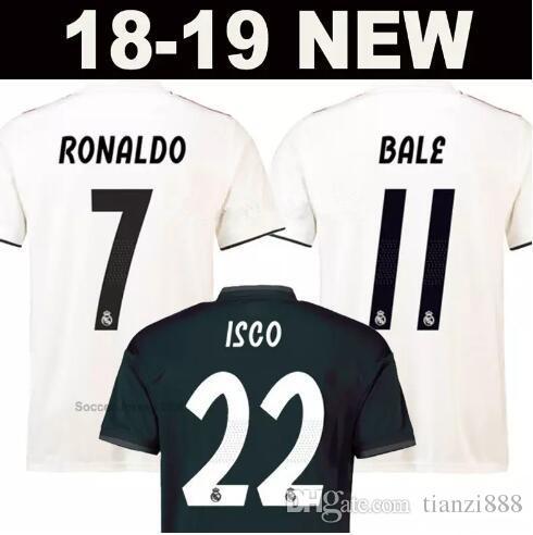 abf9fc867 2019 18 19 Real Madrid Soccer Jerseys RONALDO BALE ISCO 2018 2019 ASENSIO  MODRIC BENZEMA KROOS Ramos Champions League 13 Cup Thai Football Shirts  From ...