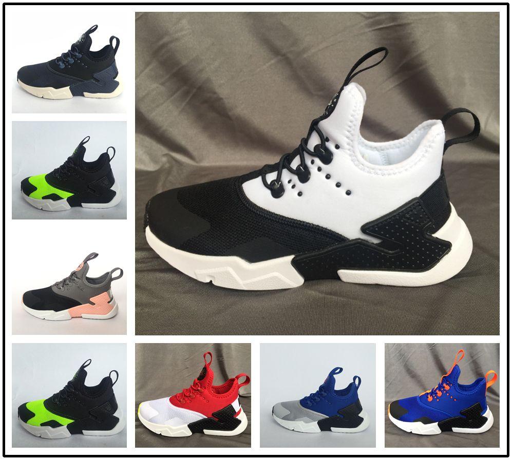 half off f1924 2e288 Acheter Nike Air Huarache Vente Chaude Bébé Enfants Chaussures Air Huarache  4.0 Classique Triple Jeunes Garçons Filles Huarache Chaussures Enfants  Sports ...