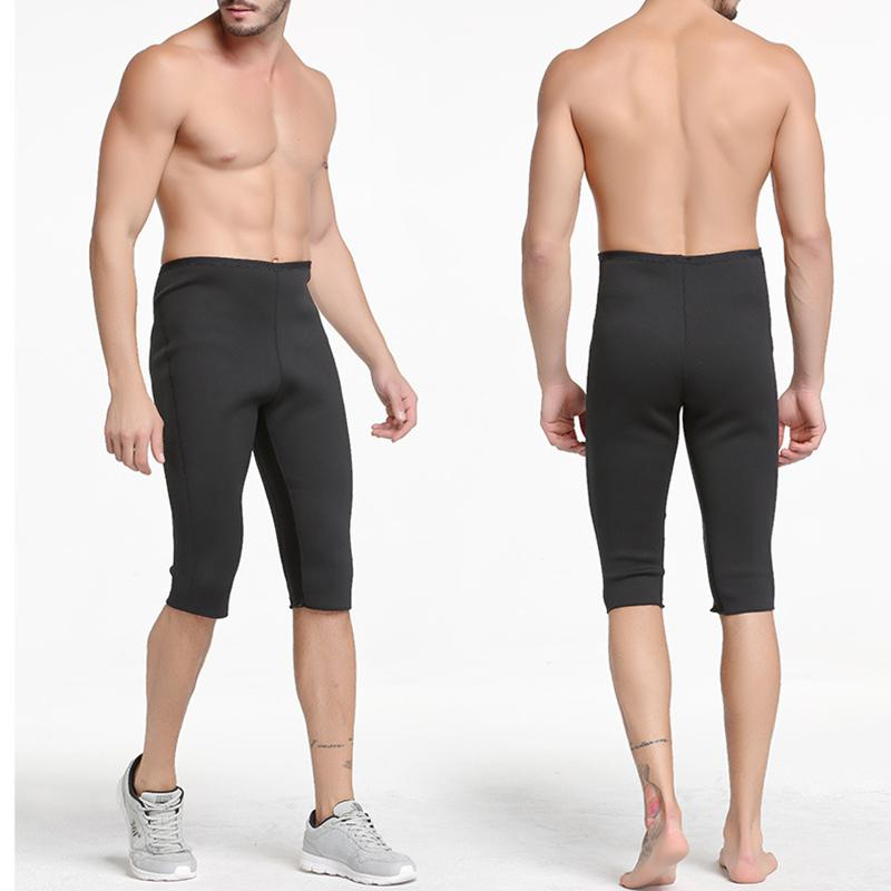 dd9de590785 2019 Men s Hot Thermo Neoprene Sweat Sauna Body Shaper Shorts Hot Shapers  Plus Size Weight Loss Compression Slimming Slim Shorts 2018 From Johiny