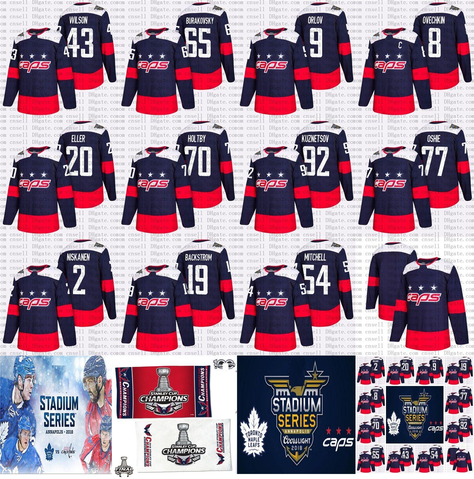 2019 2018 Stadium Series Stanley Cup Final Champion Men Lady Youth  Backstrom T.J. Oshie Evgeny Kuznetsov Beagle Washington Capitals Hockey  Jersey From Cn ... 4df1f904b