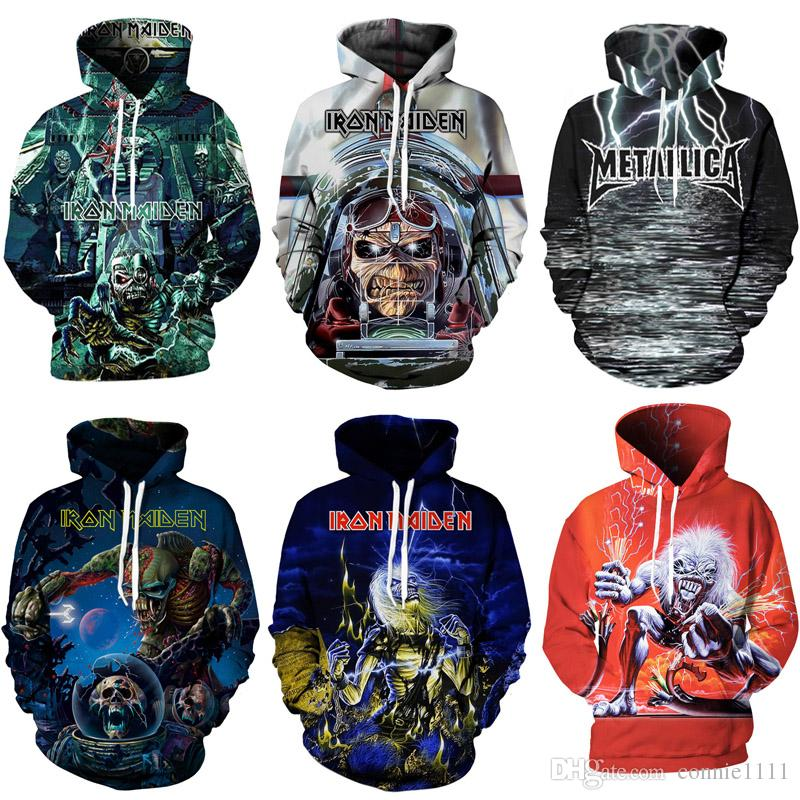 2019 Hoodie Hoodies 3d Iron Maiden Pullovers Hot Sale Long Sleeve