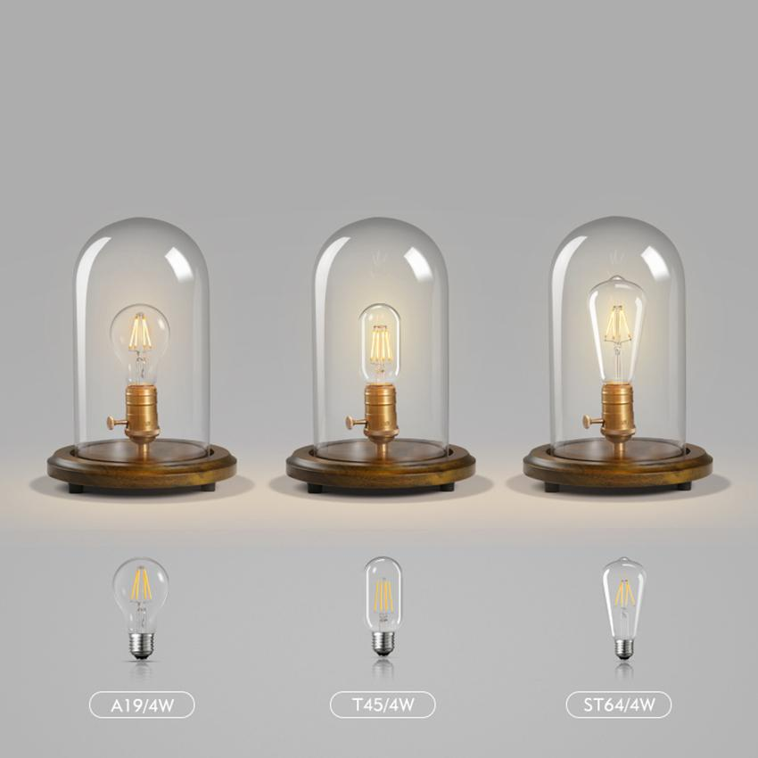 Retro Edison Bulb Glass Table Lamps Bedroom Bedside Decorative Desk Lamps  Lights Office Lighting Decorative Table Lamp Luminaire