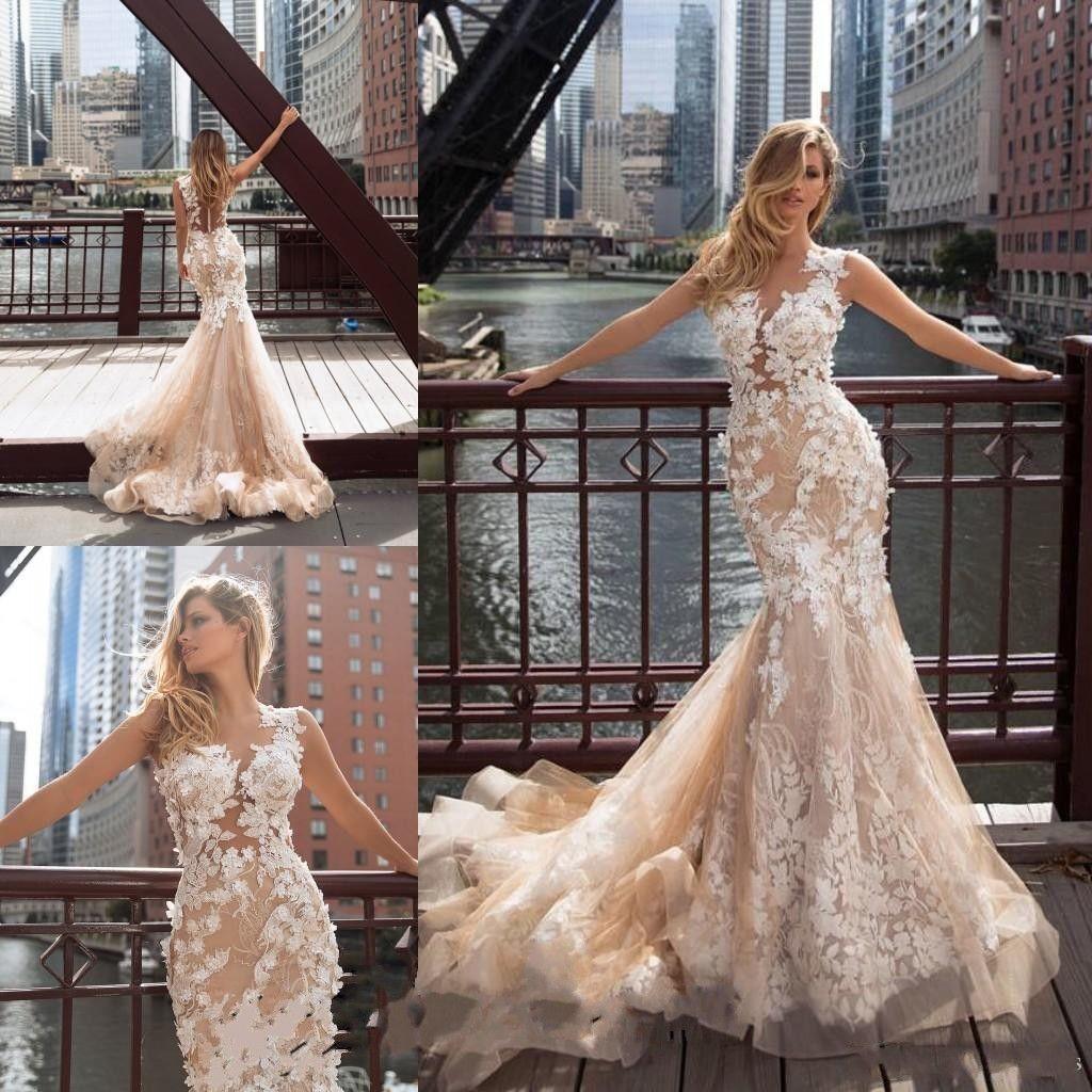 Milla Nova 2019 Bohemian Mermaid Wedding Dresses Lace