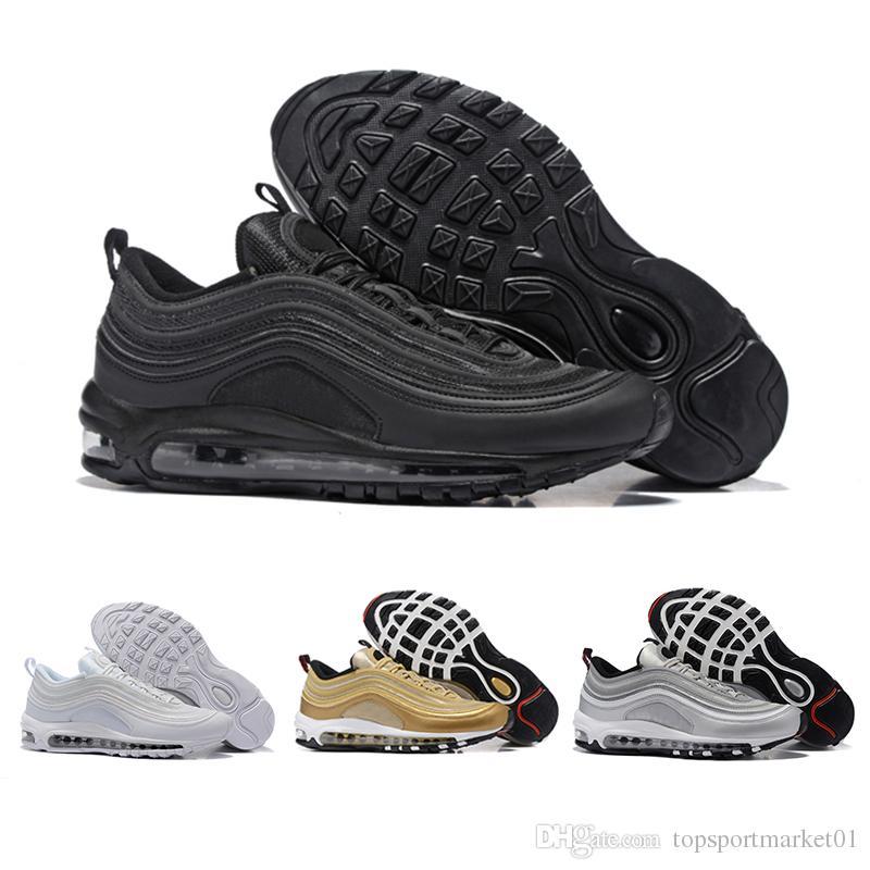 cheap for discount 88f72 6ed81 Acquista Nike Air Max 97 Nuovi Uomini Di Alta Qualità Cuscino Traspirante  Scarpe Basse Casuali Massaggio Economico Scarpe Sportive Piatte All aperto  A ...