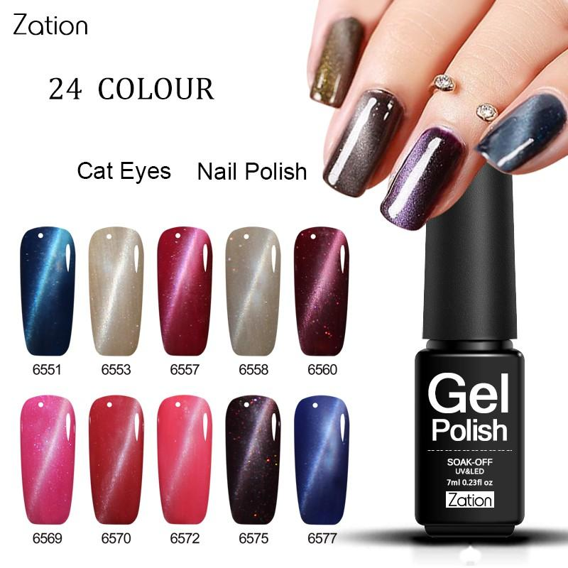 Zation 3d Magnetic Color Gel Nail Polish Professional 3d Permanen ...