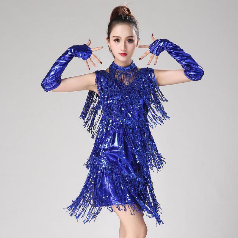 1479a5d75 Nuevo 2018 Latin Dance Dress Mujeres / Niñas / Lady New Sexy Fringe Salsa /  Salón de baile / Tango / Cha Cha / Rumba / Samba / Latin Dresses para ...