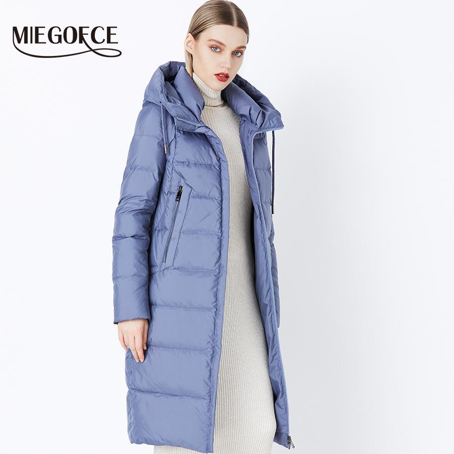 Acheter 2019 Nouveau MIEGOFCE 2018 Hiver Nouvelle Collection Bio Fluff  Hooded Femme Manteau Hiver Parkas Style Européen Veste D hiver Chaud  Élégant De ... 37d3d7b7cab2