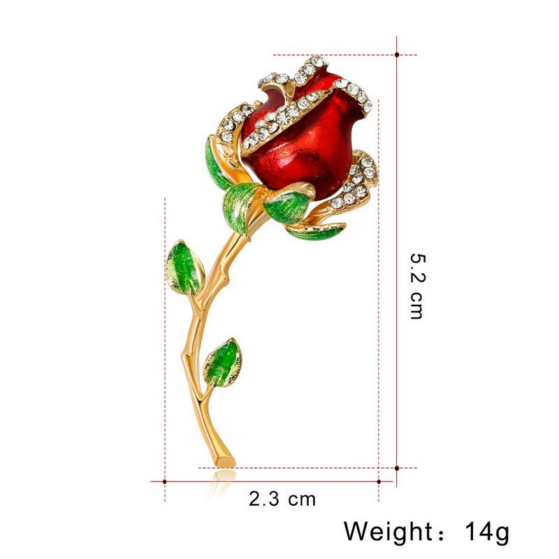 Crystal Pins and rose flower Brooches for Women Gold blue flower Pendant Brooch L Pin Party Wedding Fashion Jewelry