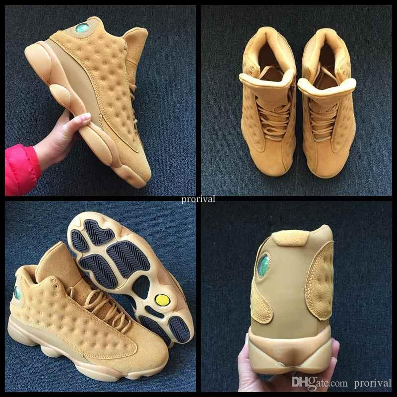 a6b0da1f09aff9 2018 New 13 XIII Wheat Basketball Shoes For Men