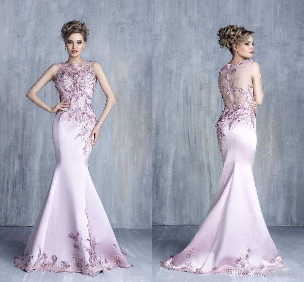 Tony Chaaya 2018 Formal Evening Dresses Satin Beads Mermaid Prom ...